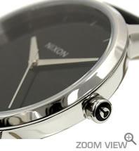 ニクソン NIXON 腕時計 KENSINGTON LEATHER NA108000-00 ブラック 横向き