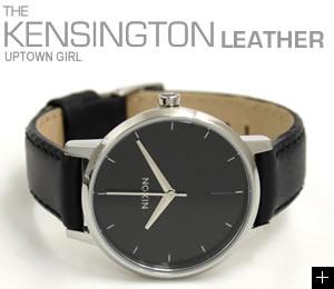 ニクソン NIXON 腕時計 KENSINGTON LEATHER NA108000-00 ブラック 横置き