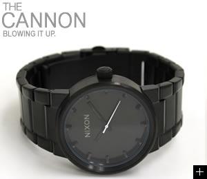 NIXON 腕時計 ニクソン CANNON NA160001-00 オールブラック 横置き