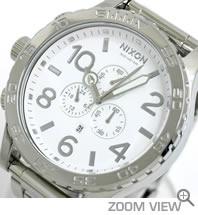 NIXON 腕時計 ニクソン 51-30 CHRONO NA083488-00 ハイポリッシュ/ホワイト 文字盤