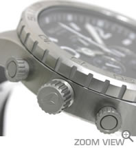 NIXON 腕時計 ニクソン 51-30 CHRONO LEATHER NA124000-00 ブラック 横向き