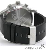 NIXON 腕時計 ニクソン 51-30 CHRONO LEATHER NA124000-00 ブラック ベルト