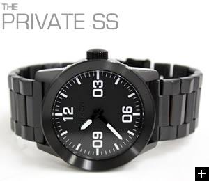 ニクソン 腕時計 PRIVATE SS NA276001-00 オールブラック NIXON 横置き