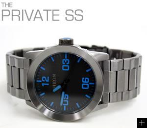 NIXON 腕時計 PRIVATE SS NA276624-00 ガンメタル/ブルー ニクソン 説明