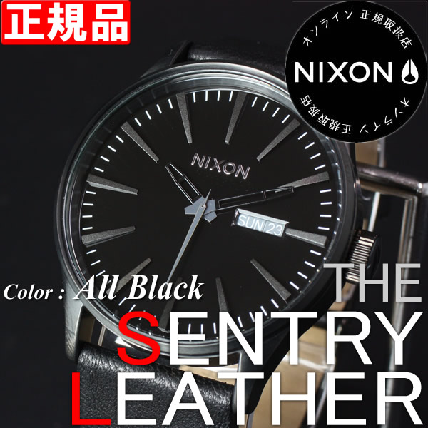 �˥����� �ӻ��� NIXON THE SENTRY LEATHER ����ȥ꡼ NA105001 All Black