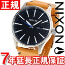 Nixon NIXON sentry leather SENTRY LEATHER watch men's natural / black NA1051602-00