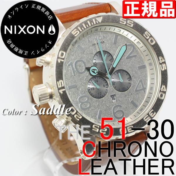 NIXON ニクソン 腕時計 51-30 クロノグラフ レザー
