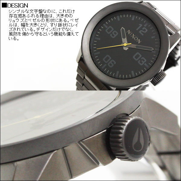 ニクソン 腕時計 メンズ NIXON THE PRIVATE SS プライベート NA276680 All Gunmetal / Black