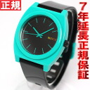 Nixon NIXON time teller p pee TIME TELLER P watch-men's black / teal NA1191060-00