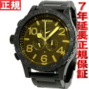 Nixon NIXON 51-30 Chrono 51-30 CHRONO watch mens chronograph black Matt / オレンジティント NA0831354-00
