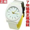 Nixon NIXON time teller p P TIME TELLER P watches ladies mens black / white / イエローフェード NA1191327-00