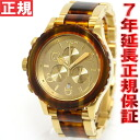 42-20 42-20 Nixon NIXON Kurono CHRONO watch Lady's / men chronograph gold / molasses NA0371424-00