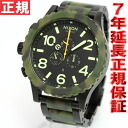 Nixon NIXON 51-30 Chrono 51-30 CHRONO watch men's chronograph black matte / Camo NA0831428-00
