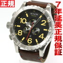 51-30 51-30 Nixon NIXON Kurono leather CHRONO LEATHER watch men chronograph black / brown NA124019-00