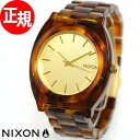 Nixon NIXON time teller p acetate TIME TELLER ACETATE watch ladies / men's Gold / molasses NA3271424-00