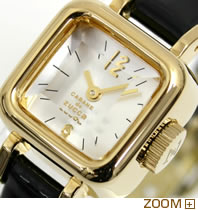 カバン ド ズッカ 腕時計 CABANE de ZUCCa CARAMEL ブラック AWGP007 文字板アップ
