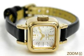 カバン ド ズッカ 腕時計 CABANE de ZUCCa CARAMEL ブラック AWGP007 横置き