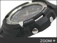カシオ G-SHOCK 腕時計 デジタル/アナログ コンビモデル AW-590-1AJF CASIO G-ショック サイド