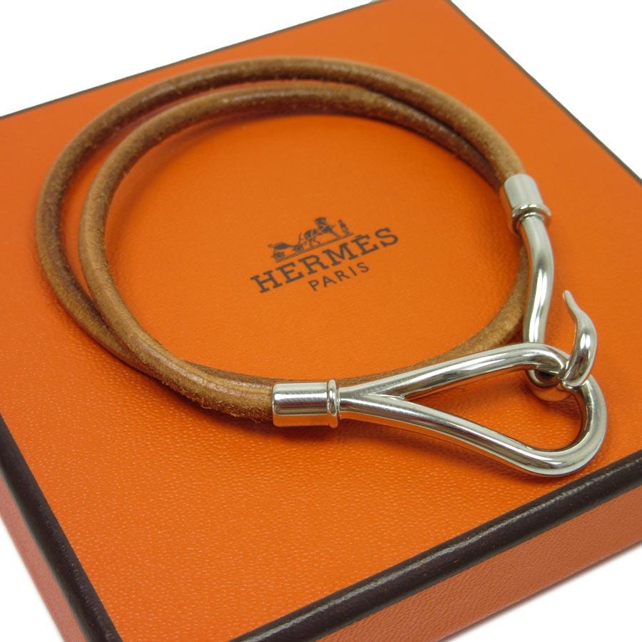 brandvalue rakuten global market hermes hermes bracelet bangle jumbochocker brown x silver. Black Bedroom Furniture Sets. Home Design Ideas