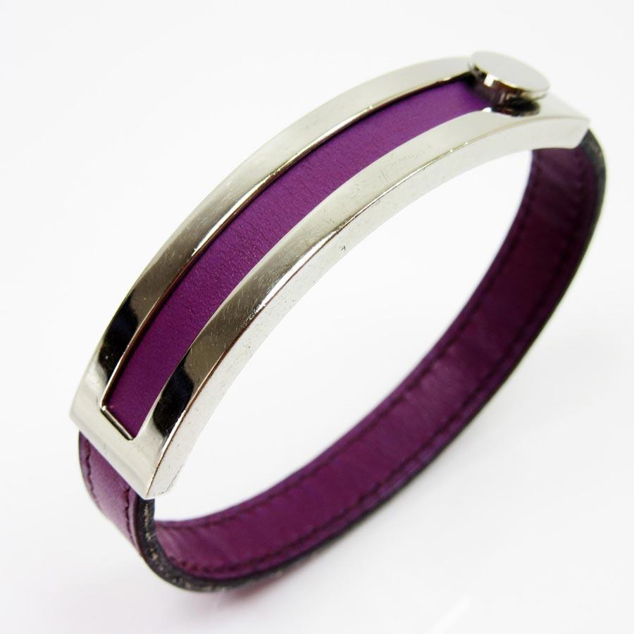 brandvalue rakuten global market hermes hermes bracelet pousse purple x silver leather. Black Bedroom Furniture Sets. Home Design Ideas