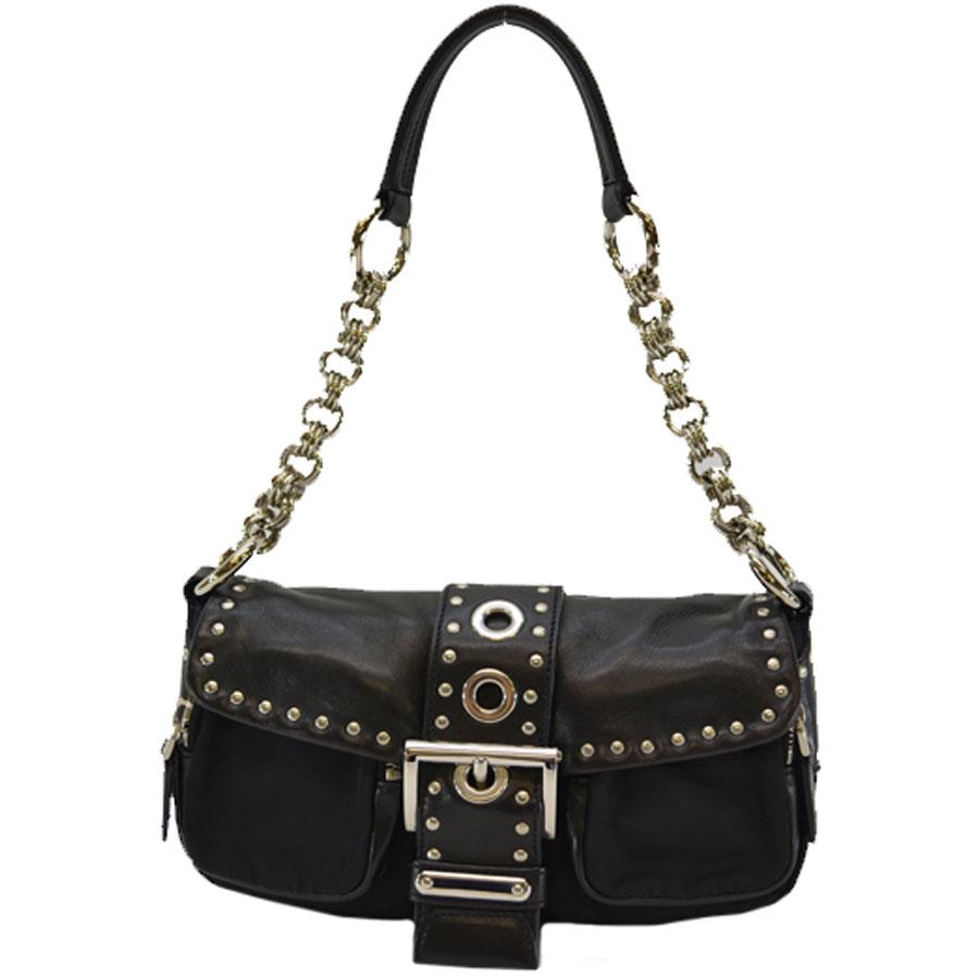 prada silver metal chain bag