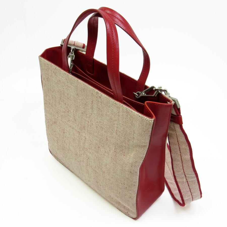 prada red leather handbag 2way