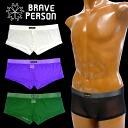 BRAVE PERSON メンズメッシュローライズボクサー [남자/속옷/내복/남성용/로우 라이즈/M ~ L/섹시/와일드/UnderWear/브 레 이브 맨/정품]