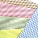 Japan-made salt reduction t/c gingham check fabric (small) 5 colors 02P24Jun11