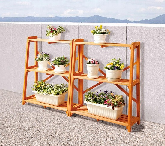 athene Rakuten Global Market Wooden flower rack CK007 outdoor