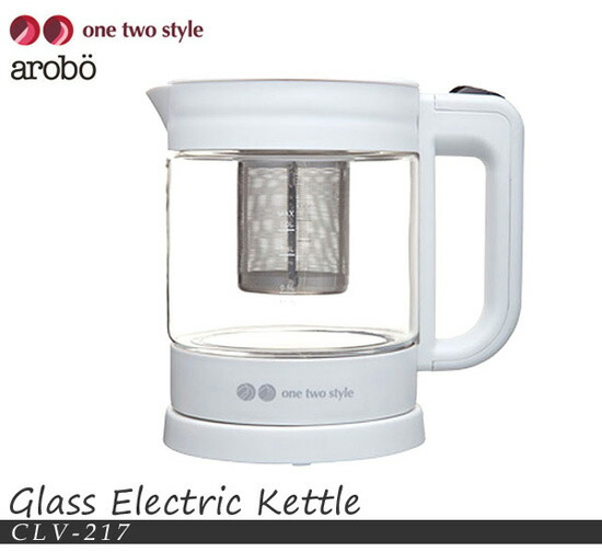 ガラス製の電気ケトル