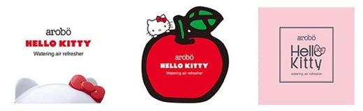 arobo HELLO KITTY MODEL は『ハローキティ』『りんご』『りぼん』の3種類