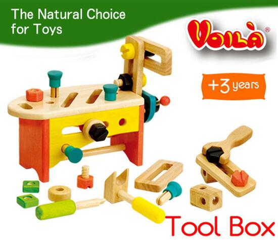 木のおもちゃの工具セット