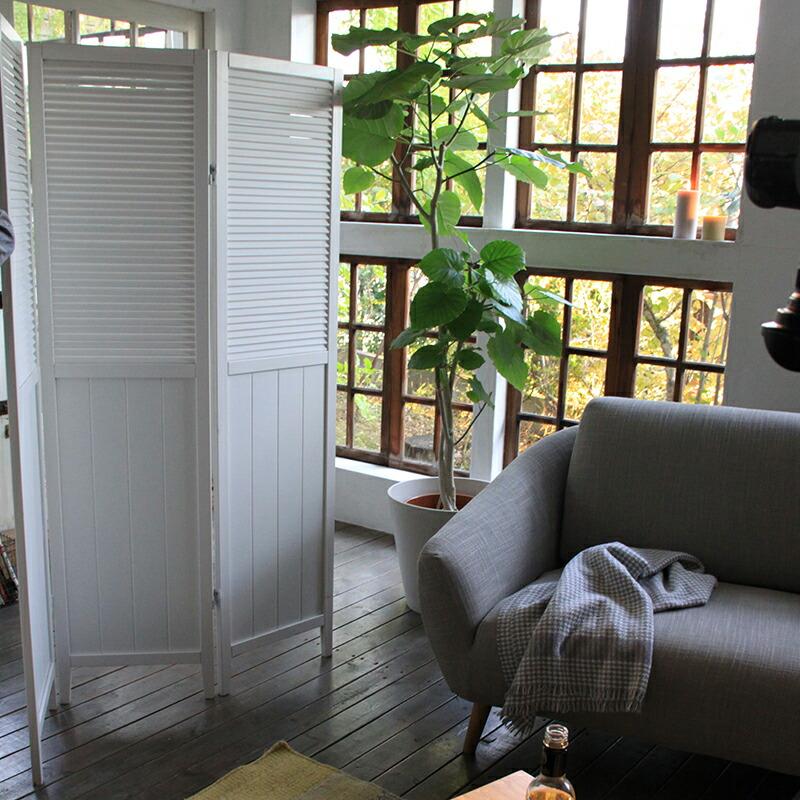 3連スクリーン ウッドスクリーンパネル 衝立 パーテーション 間仕切り オシャレ 激安 洋風 木製 ホワイト ブラウン
