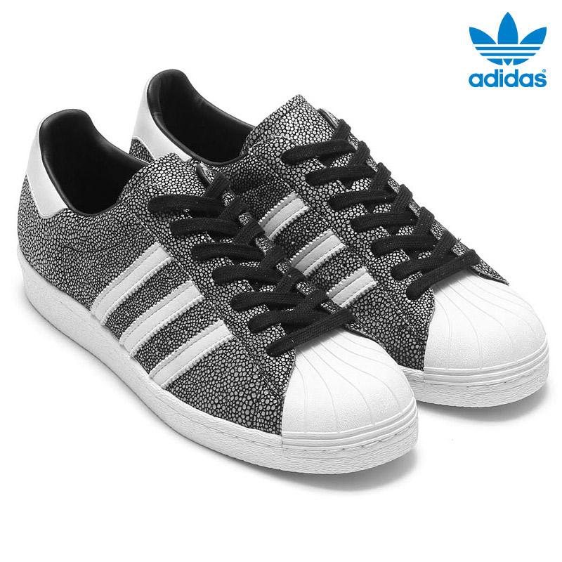 adidas superstar 80s black white stingray