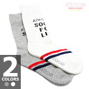 ATMOS SOCKS V-LINE CREW LADIES 2-color