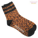 Atmos SOCKS LEOPARD CREW BROWN
