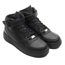 NIKE AIR FORCE 1 MID GS BLACK/BLACK
