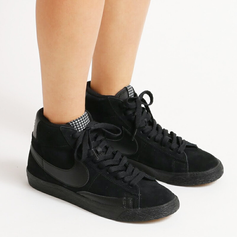 nike blazer black white