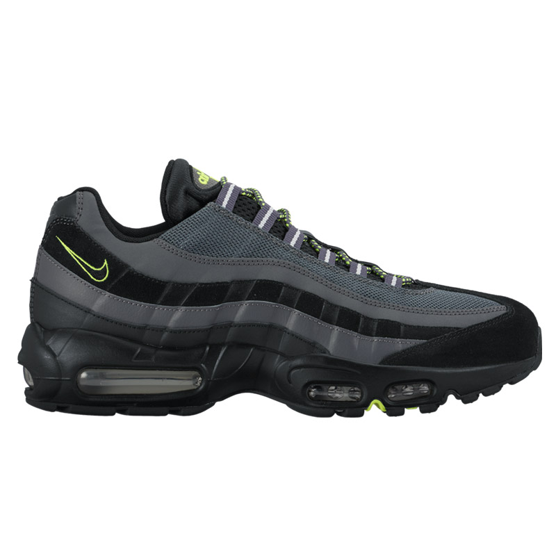NIKE AIR MAX 95 ESSENTIAL (Nike Air Max 95 essential) BLACK/BLACK-DARK GREY-PURE PLATINUM-VOLT 16FA-I