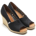 Over 5,000 yen (tax excluded) items for store products! Up to 5/19 12:59 ♪ TOMS WOMENS WEDGES BLACK CANVAS fs04gm