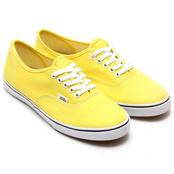 vans authentic lo pro yellow
