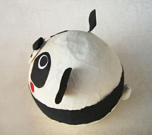 报纸做的手工作品图; awagami 工厂日本纸使动物自制的热气球在这;