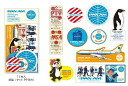 Pan am TRAVELERS notebook x traveler's notebook stickers (Pan am globe logo)