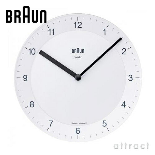 BRAUN ブラウン Radio Clock ウォールクロック(BNC006-NRC)