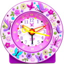 Baby watch /babywatch child service alarm clock kids clock purple garden