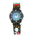 Baby watch /babywatch ZIP & ZAP cosmos (space & UFO of the jet black) child service watch kids watch