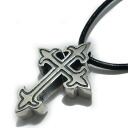 Crazy pig design (Crazy Pig Designs)/ Small Gothic cross pendant cpd676