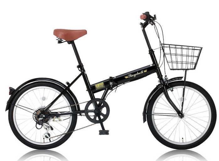 【送料無料・メーカー直送・】折り畳み自転車 20インチ6段変速カゴ付折りたたみ自転車 FB-206R (BK) (OTOMO Raychell FB-206R) 02P03Dec16 カゴ付き折りたたみ自転車