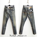 Nudie Jeans THIN FINN [Nudie jeans シンフィン: vintage processing stretch with skinny denim Org.GREENISH WORN fs3gm