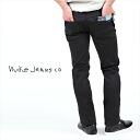 """Nudie Jeans beauty legs スキーニー denim """"THIN FINN ORG BLACK RING' シンフィンオーガニック black ring fs3gm"""